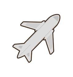 Cartoon airplane travel business vacation vector