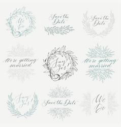 collection of hand drawn design elements vector image