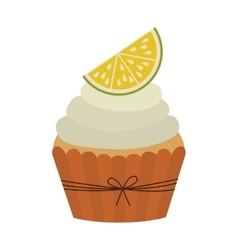 Cupcake of fruits design vector