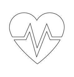 Heart beat health care medical vector
