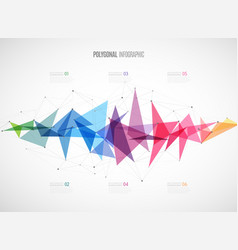 infographic template with polygonal abstract vector image vector image