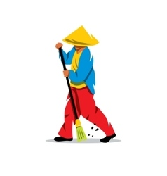 Janitor cartoon vector