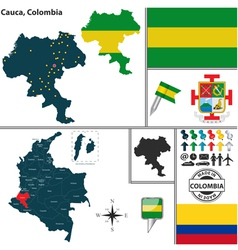 Map of cauca vector