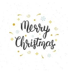 Merry Christmas hand written modern brush vector image