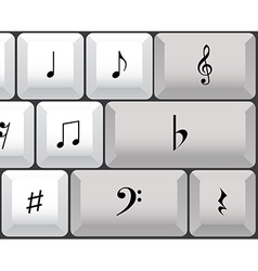 Musical notes keyboard vector image