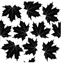 seamless pattern with black leaves vector image vector image