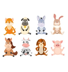 sitting animals vector image vector image