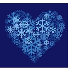 Snow heart vector image vector image