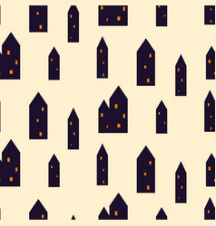 Spooky houses seamless pattern vector