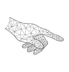 technology future polygon point touch hand vector image vector image