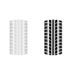two tire tracks vector image vector image