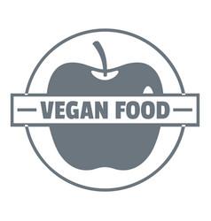 Vegan food logo vintage style vector