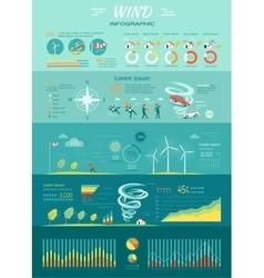 Wind Graphics Tornado Hurricane Renewable Energy vector image