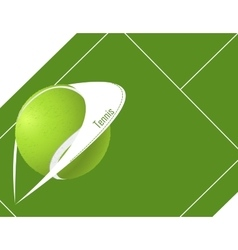 tennis background with ball vector image