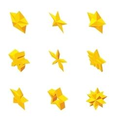 Star icons set cartoon style vector image
