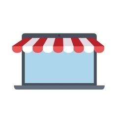 online shopping laptop sale e-commerce vector image
