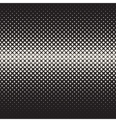 Seamless Black and White Cross Halftone vector image