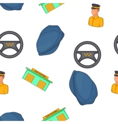 Taxi service pattern cartoon style vector image