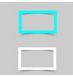 Paper white frame shadow vector
