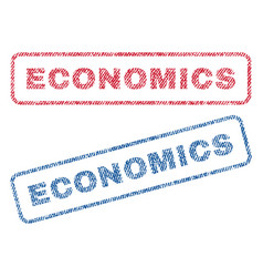 Economics textile stamps vector