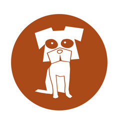 Dog comic character icon vector