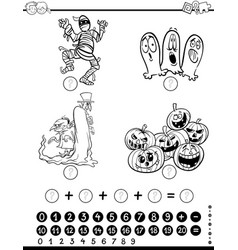 maths activity coloring page vector image