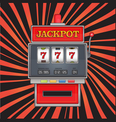 Bright on jackpot theme red vector