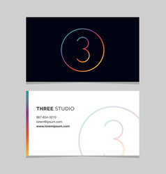 Business-card-number-3 vector