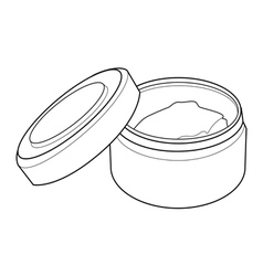 Cream containers out line vector