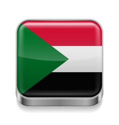 Metal icon of sudan vector
