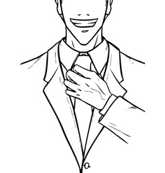 Young man dresses in formal suit vector