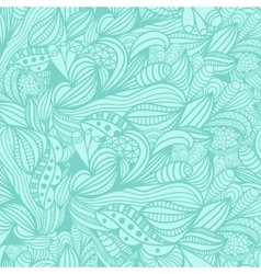 Seamless pattern with abstract blue floral vector