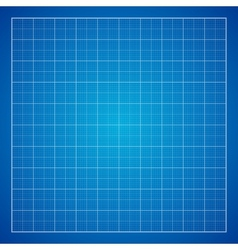 Blue graph grid paper background vector