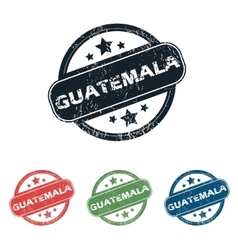 Round guatemala city stamp set vector