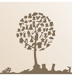 clothes tree vector image