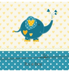 Baby shower with cute elephant 2 vector image