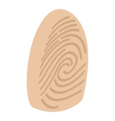 Fingerprint isometric 3d icon vector
