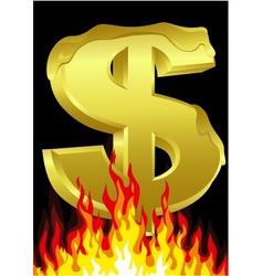 melting dollar vector image