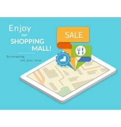 Enjoy our shopping mall mobile marketing and vector