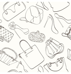 Seamless bag pattern vector