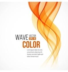 Abstract arange wave design element vector image