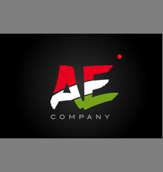 Ae a e alphabet letter logo combination icon vector
