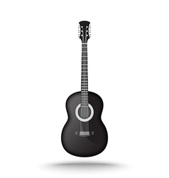 Black acoustic guitar vector