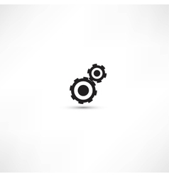 black cogs gears on light background vector image