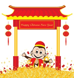 Chinese New Year of Monkey isolated on white vector image vector image