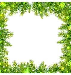 Christmas Tree Frame With Stars vector image