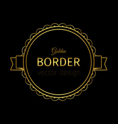 Golden border on the label vector