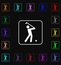 Golf icon sign Lots of colorful symbols for your vector image