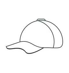 Isolated baseball hat design vector image