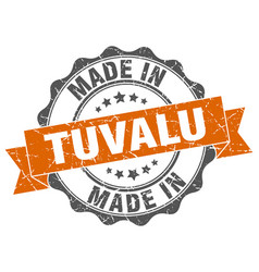 Made in tuvalu round seal vector